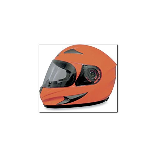AFX FX-90 Solid Helmet , Size: Md, Distinct Name: Safety Orange, Primary Color: Orange, Gender: Mens/Unisex, Helmet Type: Full-face Helmets, Helmet Category: Street - Types Male Of Faces