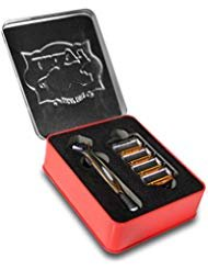 Lucky 7 Shaving Starter Set - Seven Blade Shaving System (8 Cartridges) - Reusable Lucky Tiger Tin Case