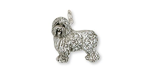 Old English Sheepdog Jewelry Sterling Silver Old English Sheepdog Charm Handmade Dog Jewelry OE1-C