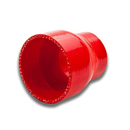 2 inches To 2.375 inches Straight Turbo//Intercooler//Intake Piping Coupler Reducer Silicone Hose Red
