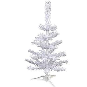 Indoor decor White Desktop Work Office Table-Top Artificial Christmas Trees, (Bonus LJIF Stickers) 18 in. House 117