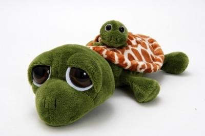 Bright Zoo (The Petting Zoo Bright Eyes Pocketz Mom and Baby Turtle - 10 Inches)