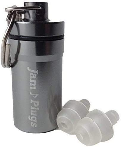 Jamplugs: Transparent Reusable Silicone High Fidelity Ear Plugs For Concerts, Music And Musicians