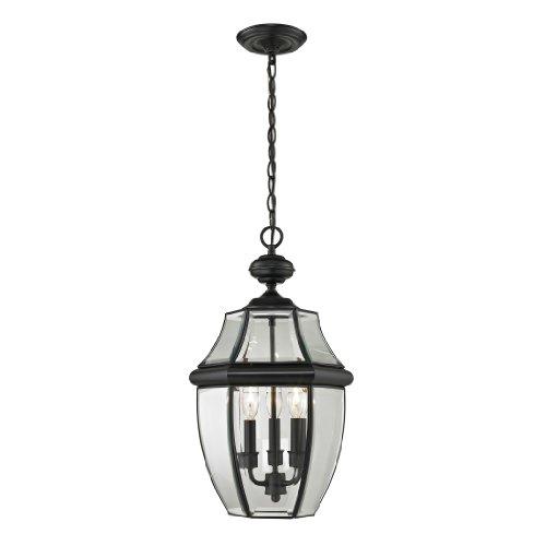 Cornerstone Lighting 8603EH/60 Ashford 3 Light Exterior Hanging Lantern, Black