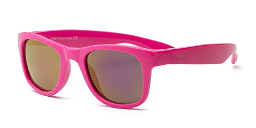 Real Kids Neon Pink Flex Fit Pink Mirror Lens 4+ - Sunglasses Flex