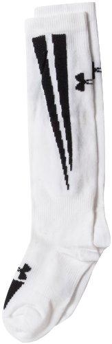 Under Armour Ignite Soccer Over the Calf Socks, White/Black