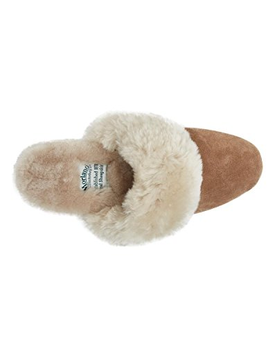 Morlands Ladies Sheepskin Slipper Mole (Moffat) aqzLQ