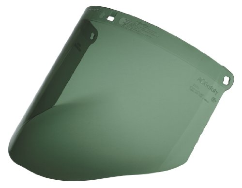 3M Dark Green Polycarbonate Faceshield WP96C, Face Protection 82702-00000, Molded