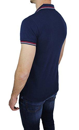 Mat Sartoriale Herren T-Shirt blau dunkelblau Small