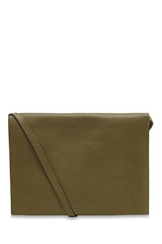 Italian Ladies Envelope Leather Soft Jinne Di Montte Bag Green Flap 100 Olive Shoulder 1Y0FIfxn