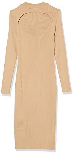 The Drop Women's Chantal Fitted Cutout Rib Midi Sweater Dress