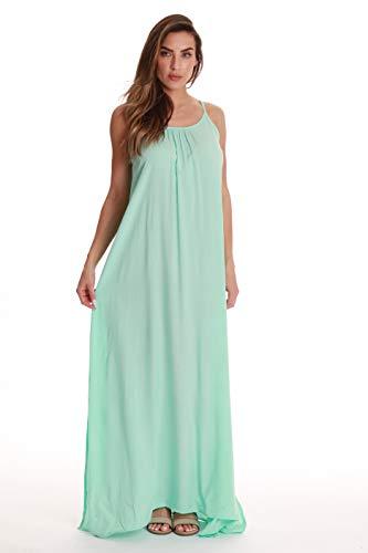 - Riviera Sun Solid Spaghetti Strap Dress 21889-MIN-M Mint