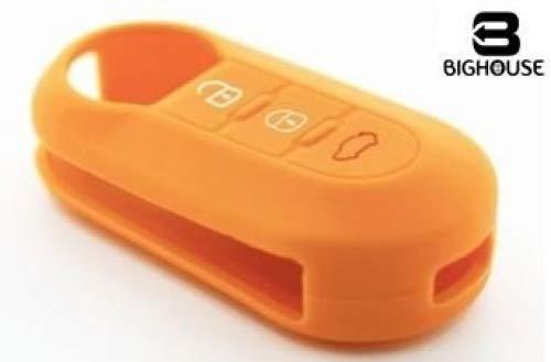 Tech11 FIAT - Protezione in silicone per telecomando chiave FIAT - FIAT 500 - PANDA (DAL 2012) - BRAVO - PUNTO - 500L - LANCIA YPSILON (DAL 2011 IN POI) - DELTA - DOBLO' - MUSA (NERO)
