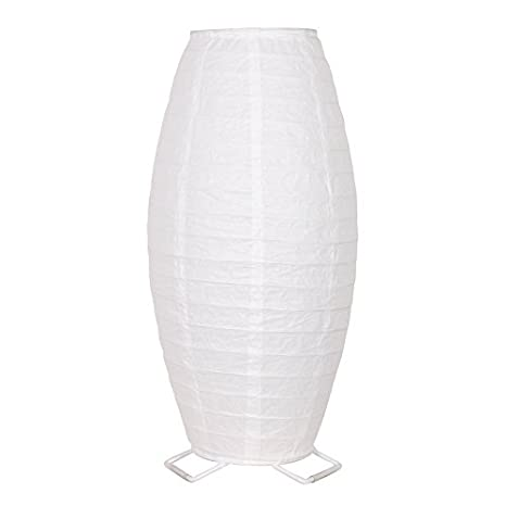 Perfect White Table Lamp With Rice Paper Shade 17.75u0026quot; Desk Light