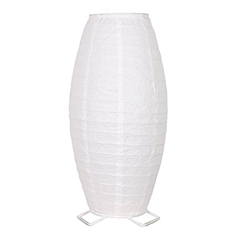 White table lamp with rice paper shade 1775 desk light amazon white table lamp with rice paper shade 1775quot desk light mozeypictures Gallery