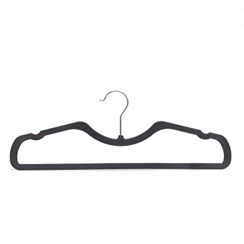Higher Hangers Space Saving Clothes Hangers Slimline Heavy Duty Black Plastic 40-Pack by Higher Hangers (Image #5)