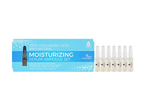 100% Hyaluronic Acid And Natural Moisturizing Serum Ampoule Set,Anti Aging Anti Wrinkle, 7 Day Treatment For All Skin Types