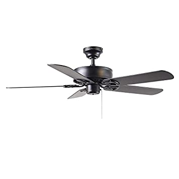 Harbor breeze 52 classic style matte black ceiling fan harbor breeze 52quot classic style matte black ceiling fan reversible blades black energy aloadofball Image collections