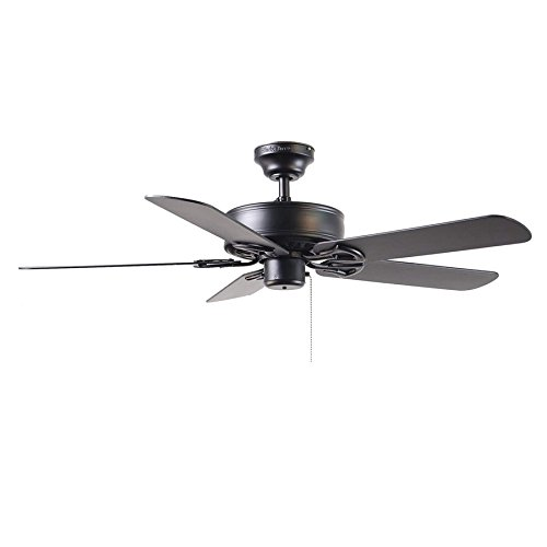 Harbor breeze 52 classic style matte black ceiling fan reversible harbor breeze 52 classic style matte black ceiling fan reversible blades black energy star amazon aloadofball Image collections