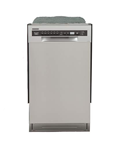 Kucht K7740D Professional 18″ Front Control Dishwasher, Stainless Steel