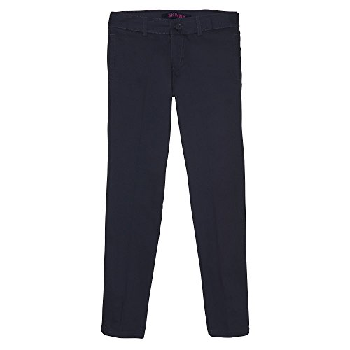 French Toast Girls Plus Size' Stretch Twill Straight Leg Pant, Navy, ()