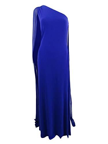 Draped One Shoulder - Calvin Klein Women's Draped One-Shoulder Gown (10, Sapphire)