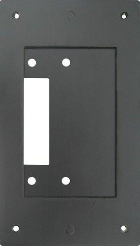 Aiphone Corporation JK-MB Mullion Mounting Bracket for JK-DV, JF-DV, or JO-DV Door Stations, Aluminum, 6-13/16'' x 3-7/8'' x 3/16'', Black