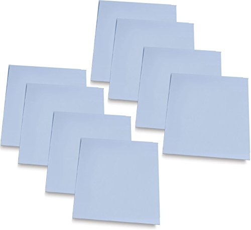 Carving Sheets Studio Pack of 8 Easy to Cut Blue Soft & Firm Artist Printmaking Block Printing set for sharp, clear prints Easy-To-Cut Linoleum (5'' x 7'') by 1Art Tools