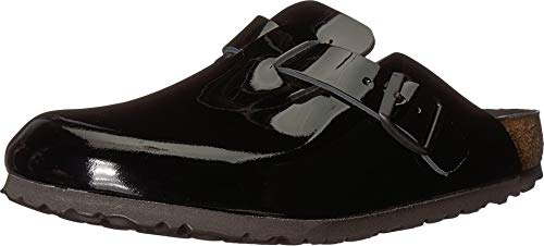 - Birkenstock Womens Boston Lux Black Patent Clog - 41 NAR