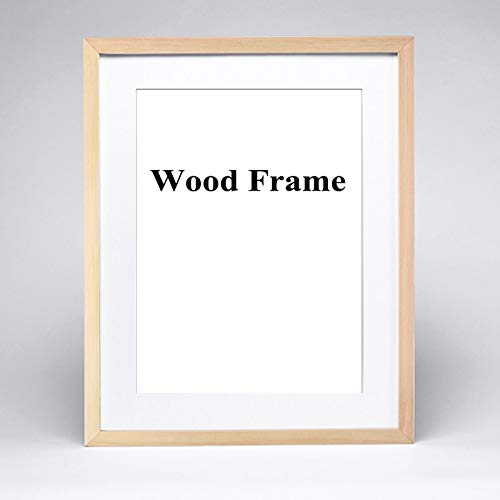 Glass figurines Picture Frame - Nature Solid Simple Wooden Frame A4 A3 Black White Wood Color Picture Photo Frame with Mats for Wall Mounting Hardware Included