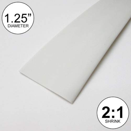 OutletBestSelling Wire Conduit 1.25'' ID White Heat Shrink Tube 2:1 Ratio 1-1/4'' wrap (10 feet) inch/ft/to 30mm