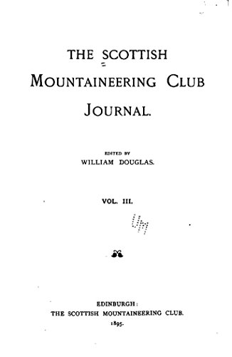 Scottish Mountaineering Club Journal - Vol. III