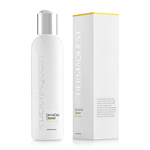 DermaQuest DermaClear Cleanser for Acne Breakouts - Gentle Exfoliation with Mandelic Acid and Tea Tree Oil, 6 fl. oz. ()