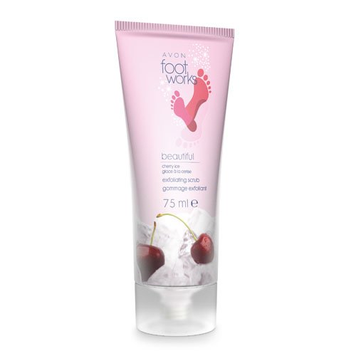 Avon Foot Works Exfoliating Scrub, Cherry Ice 75 ml 22301