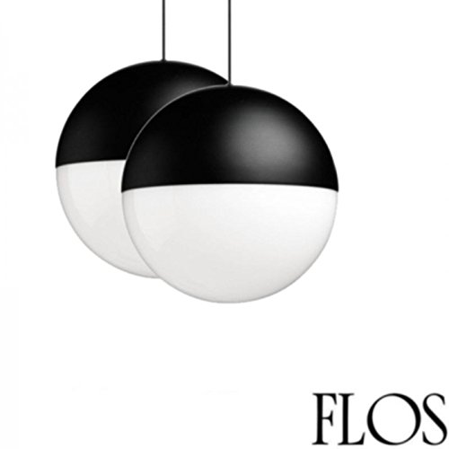 Flos String Light Sphere Head Round 2 Light Points Suspension Pendant Lamp LED 2 x 12 mt with Canopy Wallrose Two Light Suspension Pendant