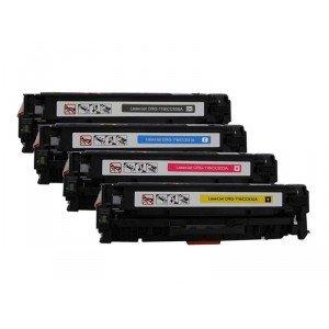4 Pack BK/C/Y/M Combo Canon CRG-118K/C/M/Y/Hp CC530A/CC53...