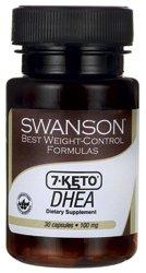 7 Keto DHEA 100 mg 30 Caps par Swanson meilleur rapport poids-Control Formules