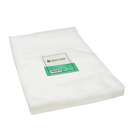 Nutri-Lock Vacuum Sealer Bags. 100 Gallon Bags 11x16 Inch. Commercial Grade Food Sealer Bags for FoodSaver, Sous Vide
