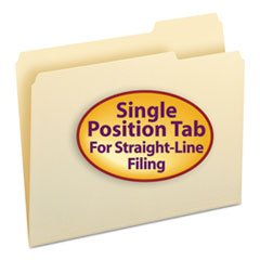 (6 Pack Value Bundle) SMD10333 File Folders, 1/3 Cut Third Position, One-Ply Top Tab, Letter, Manila