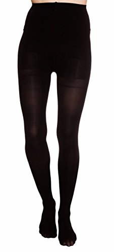 Nicole Miller Body Shaper Footed One Size Tights?Black
