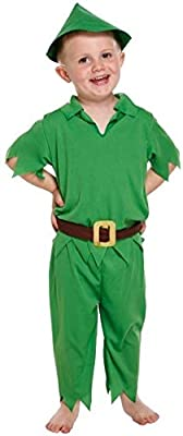 KIDS CHILDREN LIKE PETER PAN FANCYDRESS COSTUME OUTFIT (disfraz ...