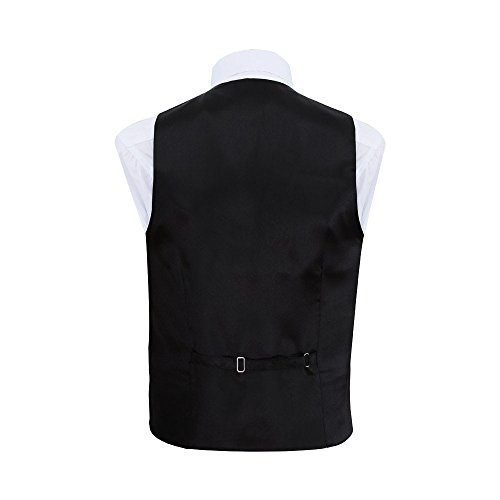 Men Bow Black DQT Waistcoat Tie Floral and Wedding Tuxedo zafqTad