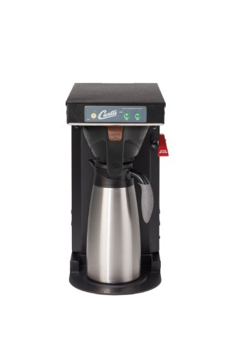 Wilbur Curtis G3 Low Profile Airpot Brewer 2.5L Airpot/Pourpot Single Low Profile Coffee Brewer Black Texture Finish - Commercial Airpot Coffee Brewer - TLP (Each) (Profile Airpot Low)
