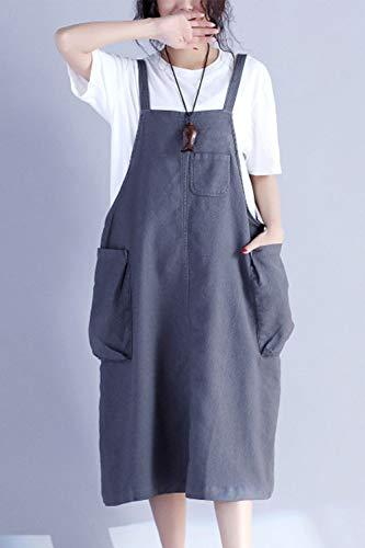 en Jupes Poches Coton Femmes Fasumava Les Gaines en Jupe Grey Automne Printemps Les wXTBxqa