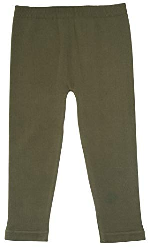 Silky Toes Baby Leggings, Toddler Seamless Soft Cotton Knit Pants for Girls and Boys (2-4 Years, Olive Green) ()