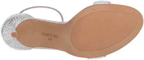 Kenneth Cole New York Donna Brooke Shine Sfarzoso Stiletto Abito Con Tacco Sandalo Argento