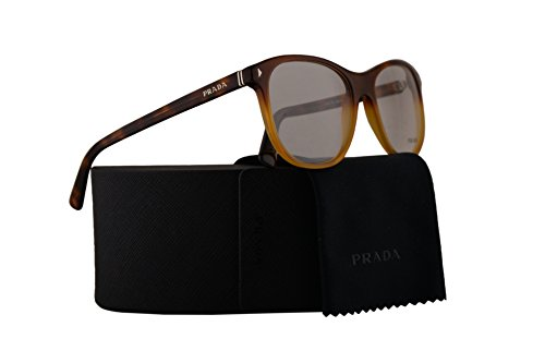 Prada PR17RV Eyeglasses 56-19-145 Light Havana Gradient w/Demo Clear Lens TKU1O1 VPR17R VPR 17R PR - Lindsay Glasses Lohan