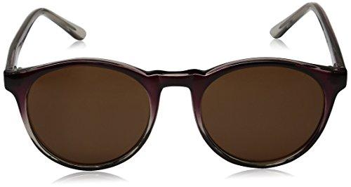A.J. Morgan Unisex - Adult Grad School Round Sunglasses Burgundy