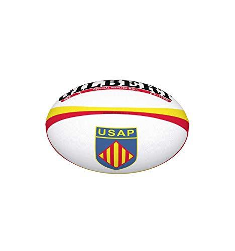 Gilbert - Balón de Rugby Perpignan (USAP), réplica Mini, Color ...