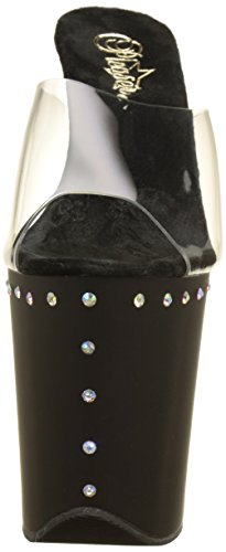 Pleaser Damen Flamingo-801abls Pumps Transparent (Clr/Blk Matte)